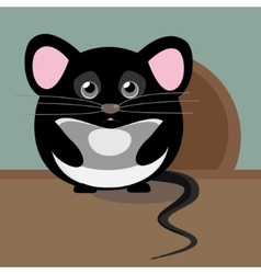 Abstract cute gray sad mouse Nice character for vector image