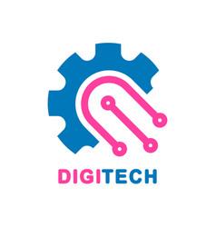 abstract digital technology design - logo vector image vector image