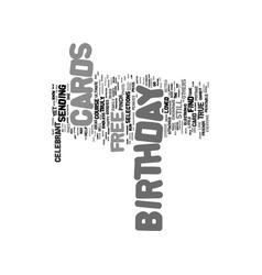 Free birthday cards text background word cloud vector