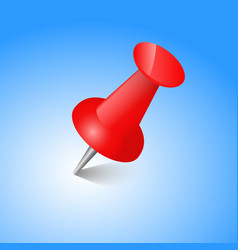 red pin realistic vector image