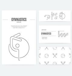Rhythmic Gymnastics Business Set vector image vector image