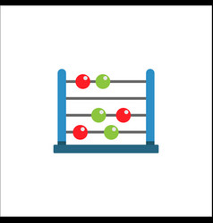 School abacus flat icon education and school vector