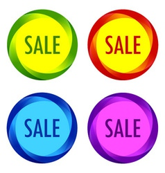 Set of unusual Sale labels vector image