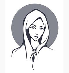 virgin Mary vector image