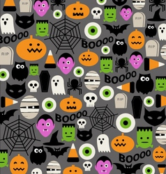 cute halloween icon pattern vector image