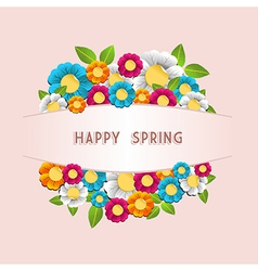 Happy spring flower card vector image vector image