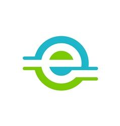 internet letter e logo vector image vector image