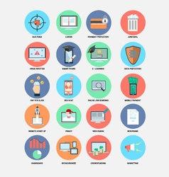 Internet trend flat design icons vector
