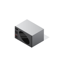 isometric microwave oven icon vector image vector image