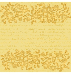 Vintage background with rose doodle border vector image vector image