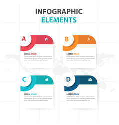 Abstract circle text box business infographics vector