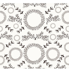 Abstract floral doodle seamless pattern vector image vector image