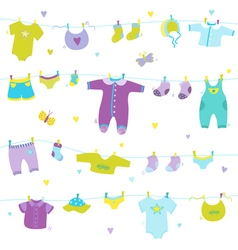 Baby Boy Cute Background - for Baby Shower vector image vector image