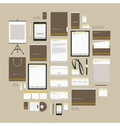 Brown wave corporate style template vector image