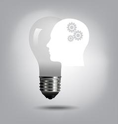 idea Light Bulb Man vector image