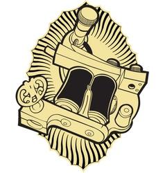 machine tattoo vector image