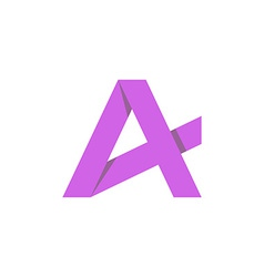 Purple letter A mockup business logo graphic icon vector image