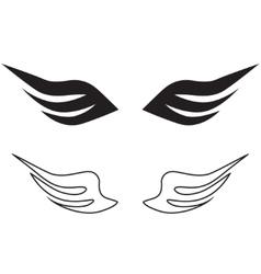 sketch of angel wings vector image