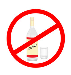 stop alcohol warning pictogram vector image