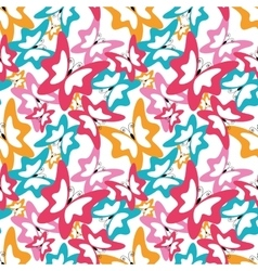 summer seamless pattern with butterfly vector image vector image