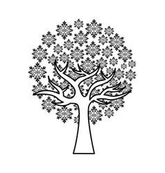 Tree plant ecology symbol vector