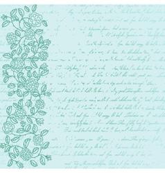 Vintage background with rose doodle border vector image vector image