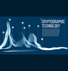 cryptographic technology background big vector image vector image