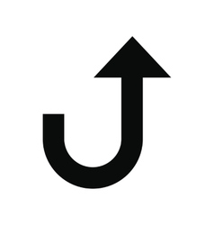 Road sign with turn symbol icon vector image vector image