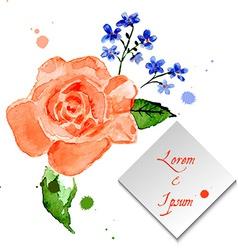 rose and forget-me-flower for celebratory design vector image
