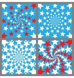 USA Holiday Background Set Veterans Day vector image