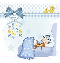 welcome new baby boy vector image