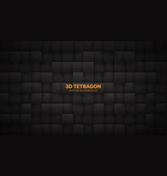 3d tetragonal blocks dark gray abstract background vector image