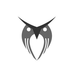 abstract owl logo icon vector image