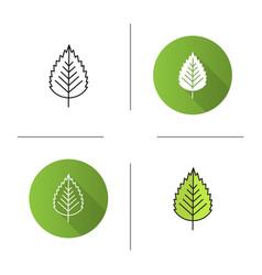 Birch leaf icon vector