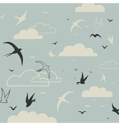 Bird in the sky vector image