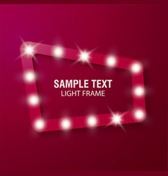 bulb frames on red background vector image
