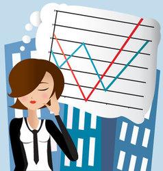 businesswoman5 vector image