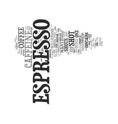 Caffeine in espresso vs drip coffee text vector