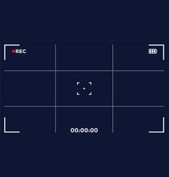 Camera screen frame video recording vector