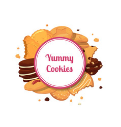 Cartoon cookies vector