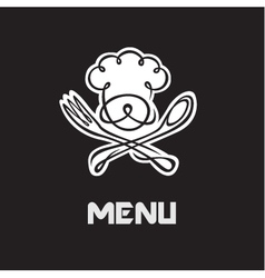 chef menu design vector image