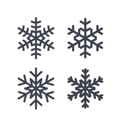 Christmas snowflakes isolated vector image