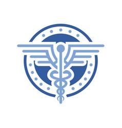 Circular health design logo vector