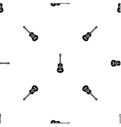classical guitar pattern seamless black vector image