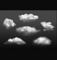 clouds realistic blue cloudy sky weather elements vector image