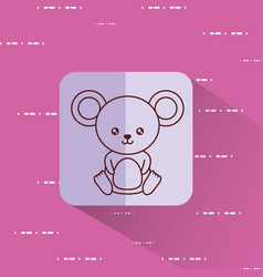 Cute mouse icon image vector