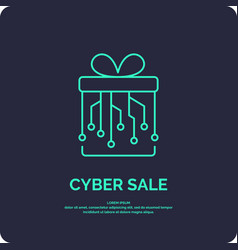 Cyber monday linear minimalistic for vector