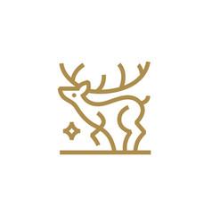 deer star monoline outline logo icon vector image