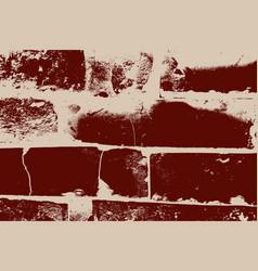 distressed brick texture vector image