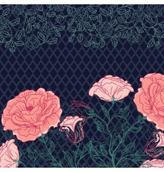Doodle rose border vector